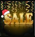 golden sale on the black background vector image