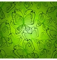Green butterflys seamless patten vector image