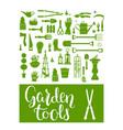 green garden tools vector image