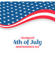 independence day design holiday in united states vector image