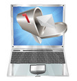 letter mailbox flying out of laptop screen concept vector image