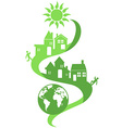 Natural community eco background vector image