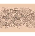 Seamless lace black ribbon on a pink background vector image
