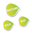 set of ecology leaves vector image