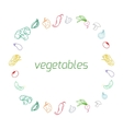Vegetables text background vector image
