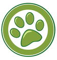Green Paw Print Banner vector image vector image