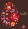 easter greeting card in national russian style vector image