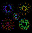 abstract neon objects vector image