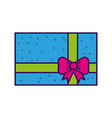 cute colofull gift cartoon vector image