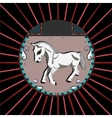 White Horse in a circle vector image