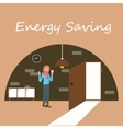 energy saving electricity switch off lamp turnght vector image