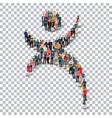 man symbol people 3d Transparency vector image vector image