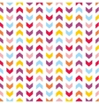 Tile pattern with pastel arrow print on white vector image
