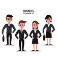 business people cartoon vector image