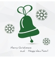 Christmas - bell vector image