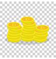 golden bitcoins virtual currency ecash vector image