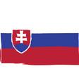 grunge slovakia flag or banner vector image