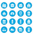 houses icon blue vector image