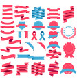 ribbons and labels set vector image