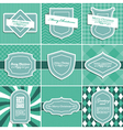 Set of christmas vintage backgrounds vector image