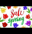 Spring Sale Banner Sale Poster Sale Flyer Sale vector image