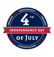Symbol American holiday Independence Day vector image