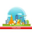 thailand travelling banner thai landmarks vector image