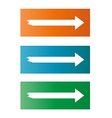three different arrows vector image