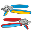 two colored can openers vector image