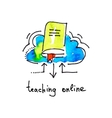 sketch watercolor icon of teaching online vector image