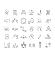 Set Flat Line Icons Elections vector image