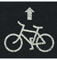 bicycle icon on asphalt vector image vector image