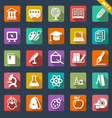 Education icon set- flat design vector image vector image