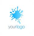 splash water logo vector image