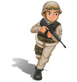 A soldier with a gun vector image vector image