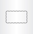 black rectangle decorative frame element vector image