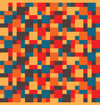 abstract colorful hippy mosaic pattern of vector image