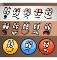 Emoticon elements set cartoon vector image