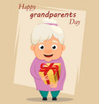 grandparents day greeting card grandmother vector image