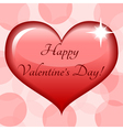 Heart with congratulation vector image