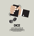 Two Dices High or Low Gamble vector image