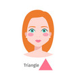 Woman face triangle type vector image