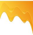 yellow honey flow vector image