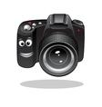 Cute cartoon DSLR or digital camera vector image