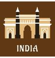Indian landmark icon Charminar mosque vector image vector image