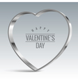 Heart sign Shiny metal vector image vector image