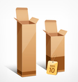 boxes of liquor vector image vector image