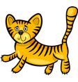 cartoon of little tiger vector image vector image