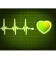Abstract heart beats vector image