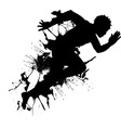 Abstract runner vector image